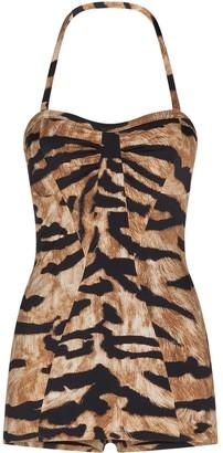 Dolce & Gabbana Tiger-Print One-Piece Swimsuit