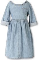Speechless Roll-Sleeve Denim Dress - Girls 7-16