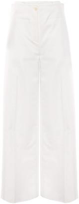 ADEAM Layered Cotton-blend Poplin Wide-leg Pants