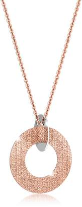 Rebecca R-Zero Rose Gold Over Bronze and Steel Long Necklace