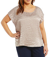Calvin Klein Plus Embossed Snake Woven Top