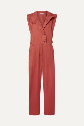 PARADISED Anna Cotton-twill Jumpsuit - Brick