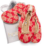 Holistic Silk Eye Mask Slipper Gift Set - Scarlet (Various Sizes) - S