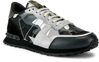 Valentino Low Top Sneaker in Silver | FWRD