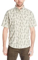 Woolrich Men's Walnut Run Printed Short Sleeve Shirt