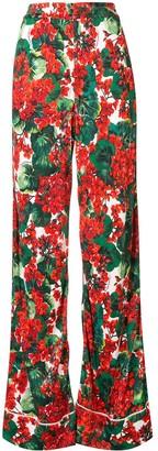 Dolce & Gabbana Portofino print flared trousers