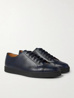 John Lobb Levah Cap-Toe Leather Sneakers