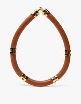 Lizzie Fortunato Double Take Necklace in Saddle