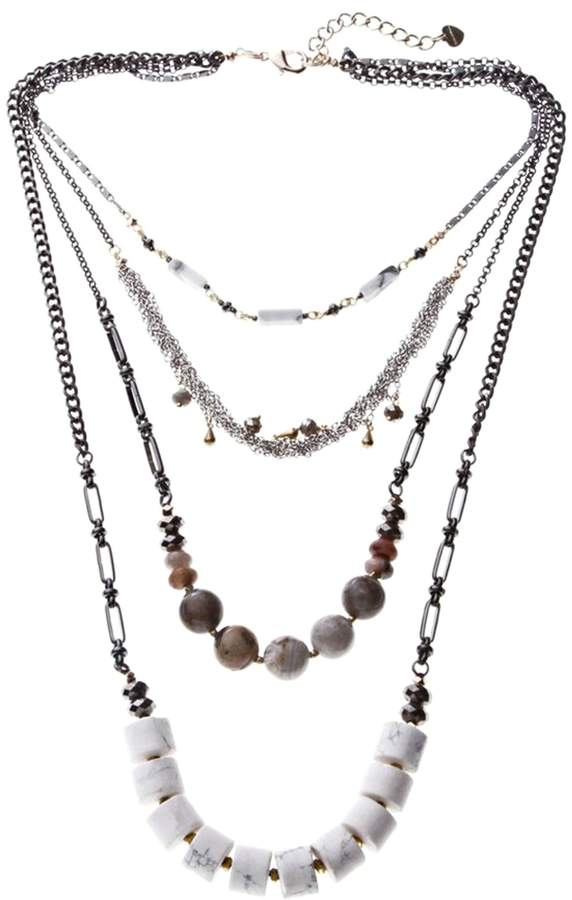 Nakamol CHICAGO Semiprecious Stranded Necklace