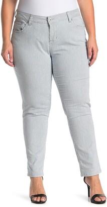 Jag Jeans Carter Girlfriend Railroad Stripe Skinny Jeans
