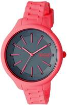 Rip Curl Women's 'Horizon' Quartz Plastic and Silicone Sport Watch, Color:Pink (Model: A2803G-PEA)