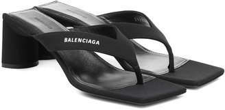 Balenciaga Double Square thong sandals