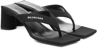 Balenciaga Logo thong sandals