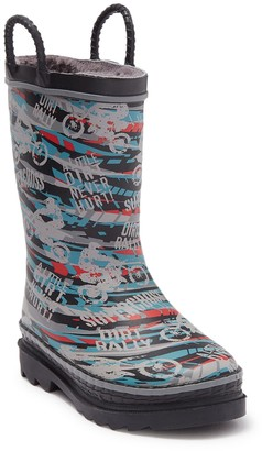 Western Chief Supercross Faux Fur Lined Waterproof Pull-On Rainboot