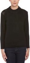 Portolano Wool & Angora-Blend Leather-Trim Sweater
