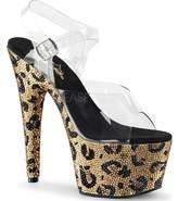 Pleaser USA Women's Bejeweled 708LP Ankle Strap Sandal