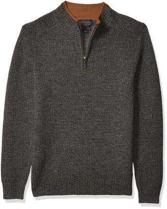Pendleton Men's Shetland Half Zip Cardigan Sweater