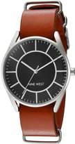 Nine West Women's NW/1943BKHY Analog Display Japanese Quartz Brown Watch