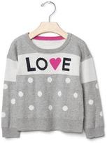 Gap Intarsia love & dots sweater
