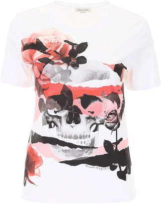 Alexander McQueen Skull And Roses T-shirt