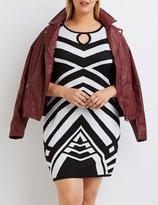 Charlotte Russe Plus Size Geometric Sweater Dress