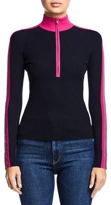 Bailey 44 Reese Half-Zip Rib-Knit Sweater