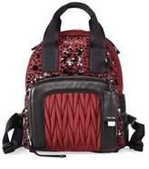 Miu Miu Embellished Leather Trim Mini Backpack