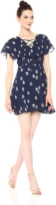 Cupcakes And Cashmere Women's Velina Paisley Printed Flutter Sleeve Dress