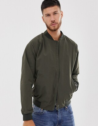 Barbour Torksey bomber harrington jacket in khaki