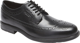 Rockport Essential Wingtip Leather Waterproof Derby Shoes, Black