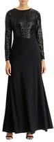 Lauren Ralph Lauren Bronx Sequin Maxi Dress, Black