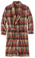 L.L. Bean L.L.Bean Chamois Cloth Robe, Plaid