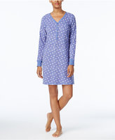 Charter Club Printed Textured Fleece Sleepshirt, Only at Macy's