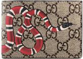 Gucci Snake print GG Supreme wallet