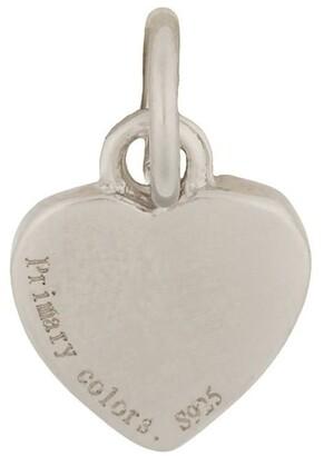 Mocha Sterling Silver Heart Charm - Silver