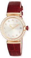 Bvlgari 33mm LVCEA 18K Pink Gold Watch