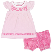Kushies Fuchsia Dots I Love Spring Dress & Bloomers - Infant