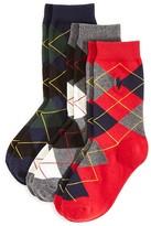 Ralph Lauren Boys' Argyle Socks 3 Pack - Sizes 4-20