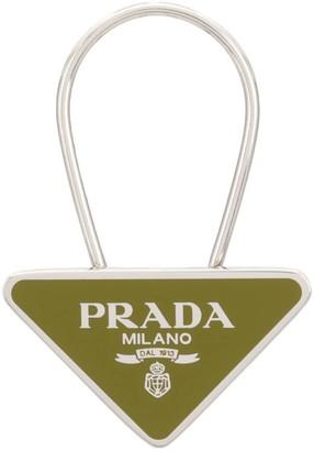 Prada logo keychain