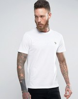 Ps By Paul Smith T-shirt Zebra Logo Slim Fit In White