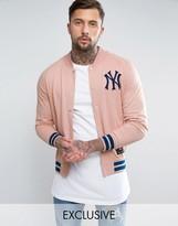 Majestic Yankees Fleece Letterman Jacket Exclusive To Asos