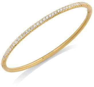 Carelle Moderne Pave Diamond & 18K Yellow Gold Bangle