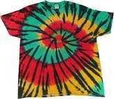Gildan Tie Dye T-shirts Rasta Web Kids & Adult Sizes