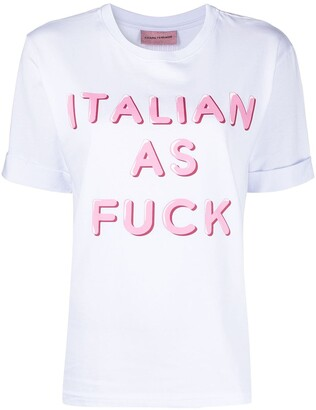 Chiara Ferragni Italian as T-shirt