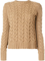 Max Mara cable-knit jumper