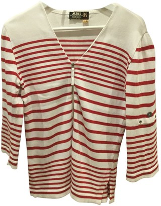 Jean Paul Gaultier Red Cotton Knitwear
