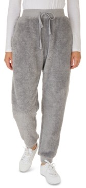 Hippie Rose Juniors' Faux-Sherpa Jogger Pants