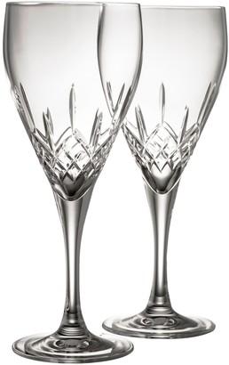 Belleek Pottery Longford Red Wine Glass Pair