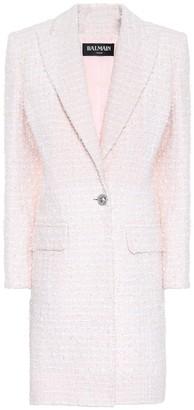 Balmain Single-breasted tweed coat