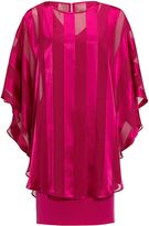 Gina Bacconi Soho Crepe Dress And Stripe Cape